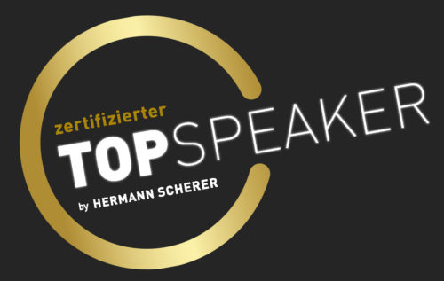 zertifizierter Top Speaker by Hermann Scherer