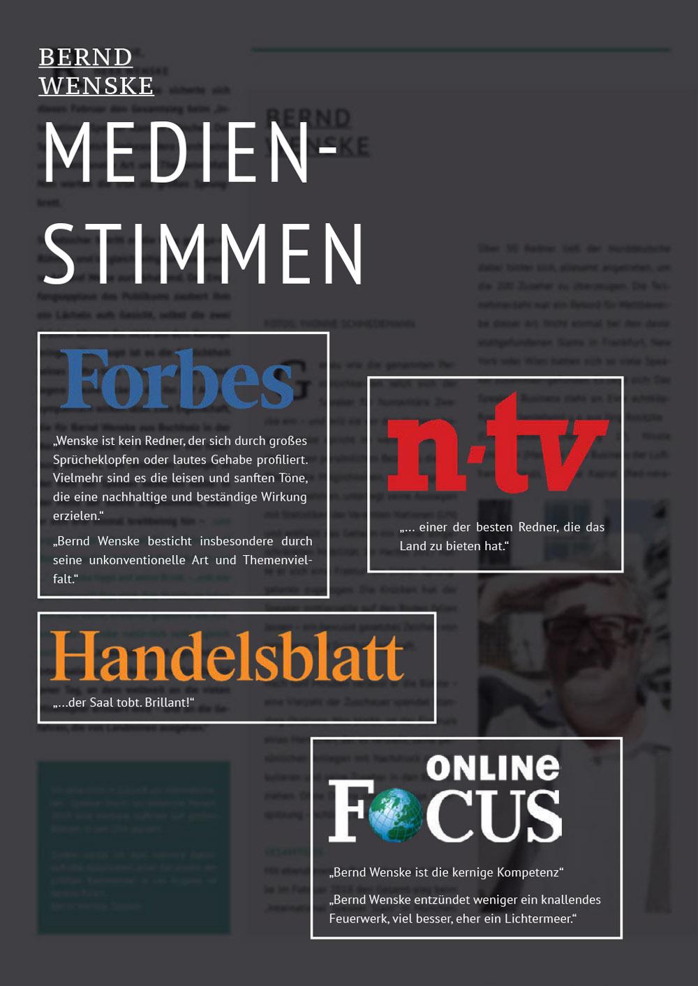 Medienstimmen | Bernd Wenske