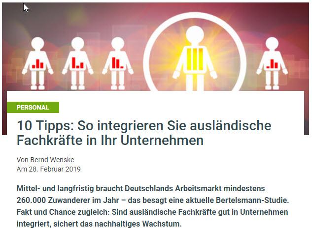 10 Tipps: So integrieren Sie ausländische Fachkräfte in Ihr Unternehmen