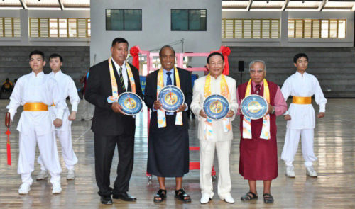 FOWPAL Prässident Dr. Hong und Repräsentanten von Ozeanien