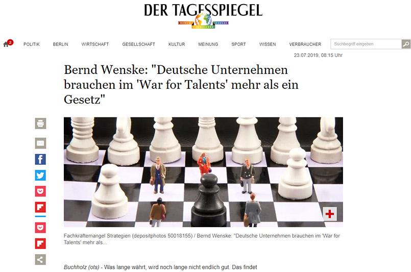 Bildunterschrift:Fachkräfte Strategien im War-for-Talents